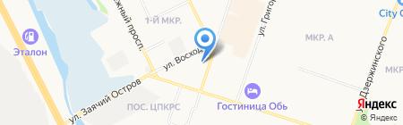 Адамас на карте Сургута