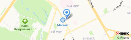 Магазин фруктов и овощей на ул. Губкина на карте Сургута