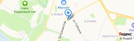 Ново-Фарм на карте Сургута