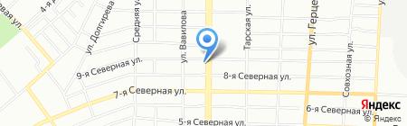 Восток-Сервис-Спецодежда на карте Омска