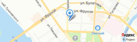 Авиа-Тревел на карте Омска
