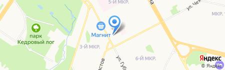 Открытие на карте Сургута
