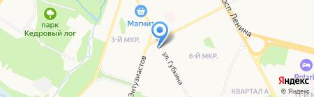 Сытый Кролик на карте Сургута