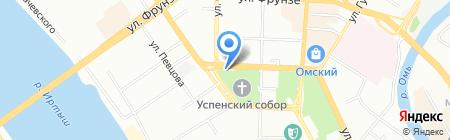 Славица на карте Омска