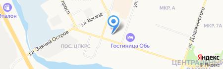 Мобила на карте Сургута