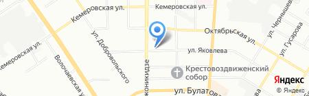 Тарские ворота на карте Омска
