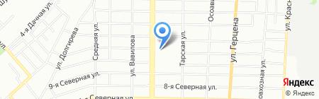 Орматек на карте Омска