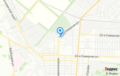 Местоположение на карте пункта техосмотра по адресу г Омск, ул Орджоникидзе, д 282