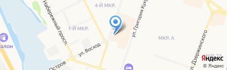 Боец на карте Сургута