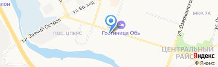 Шиномонтажная мастерская на Набережном проспекте на карте Сургута
