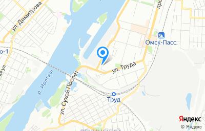 Местоположение на карте пункта техосмотра по адресу г Омск, ул Труда, д 42
