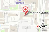 Схема проезда до компании Сатурн в Омске