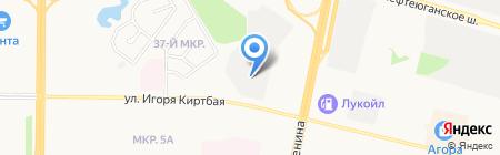 Центральная базовая лаборатория экоаналитических и технологических исследований на карте Сургута