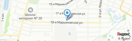 Куйбышевский на карте Омска