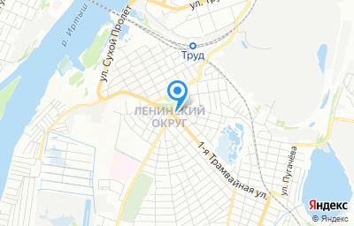 Местоположение на карте пункта техосмотра по адресу г Омск, ул 1-я Трамвайная, д 1