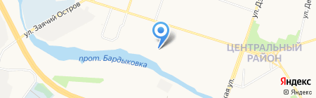 Сибкар на карте Сургута