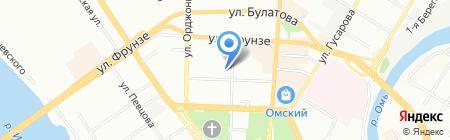 Городской центр межевания на карте Омска