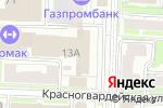 Схема проезда до компании На Тарской в Омске