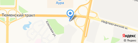 АЗС на карте Сургута