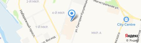 Тиккурила на карте Сургута