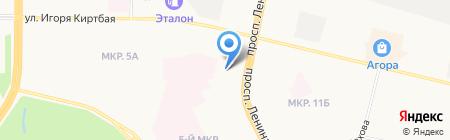 Салон стрижек у автовокзала на карте Сургута