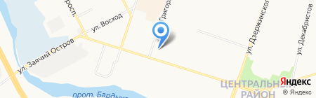 Обь на карте Сургута