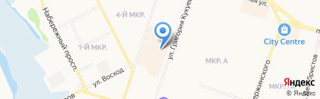 Продуктовый магазин на ул. Кукуевицкого на карте Сургута