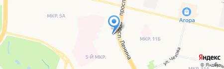Жена на час на карте Сургута