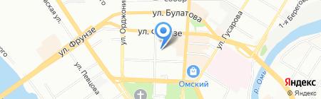 Центральный-1 на карте Омска