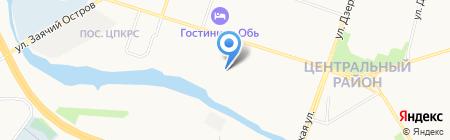 Дымок на карте Сургута