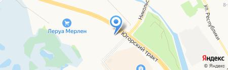 Новотех-МБ на карте Сургута