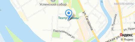 На Некрасова на карте Омска