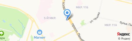 Киоск по продаже колбасных изделий на карте Сургута