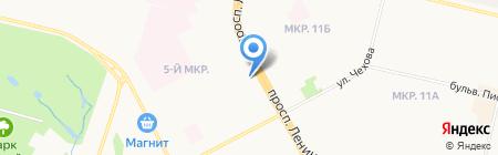 Фиалка на карте Сургута