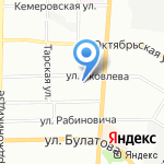Канцелярские товары на карте Омска