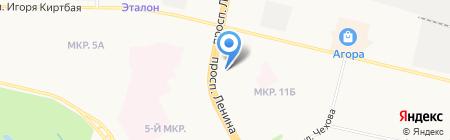 Афина на карте Сургута