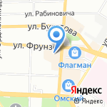 Вкусноff на карте Омска