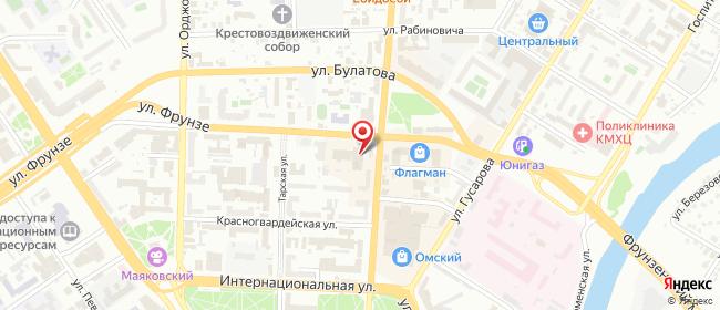 Карта расположения пункта доставки Омск Герцена в городе Омск