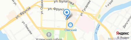 Элекснет на карте Омска