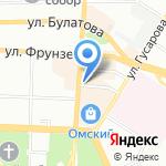 Планета Суши на карте Омска
