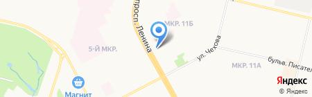 Киоск по продаже мясной продукции и полуфабрикатов на карте Сургута