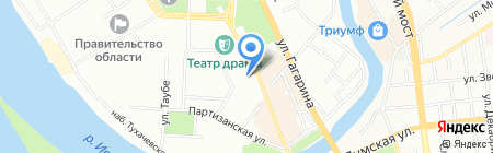 Юман на карте Омска