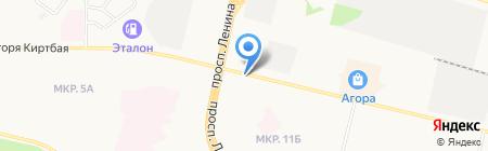 24 часа на карте Сургута