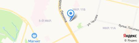 Магазин фруктов и овощей на проспекте Ленина на карте Сургута