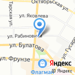 Альтерна на карте Омска