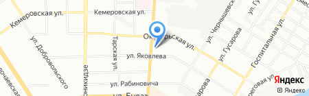 Глобал Трэвел на карте Омска