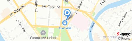 Щит на карте Омска