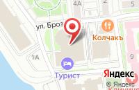 Схема проезда до компании Индустрия моды в Омске