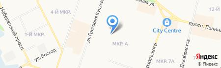 Средняя общеобразовательная школа №12 с углубленным изучением отдельных предметов на карте Сургута
