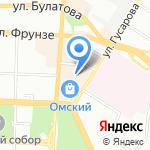 Сытная площадь на карте Омска